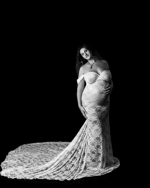 Maternity boudoir photography session