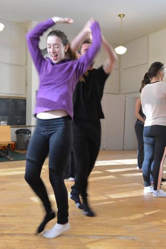 Students having fun in class