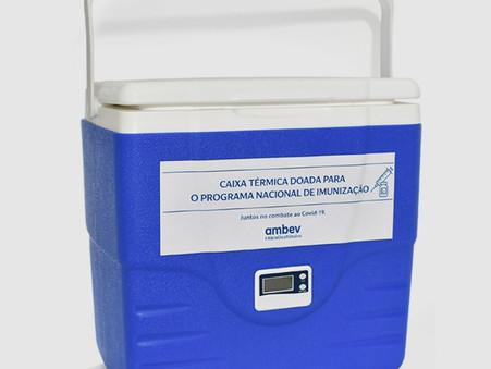 Ambev doa caixas térmicas para transportar vacinas de combate ao covid-19