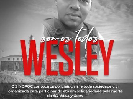 Manifestação em homenagem ao SD Wesley está marcada para essa quarta-feira