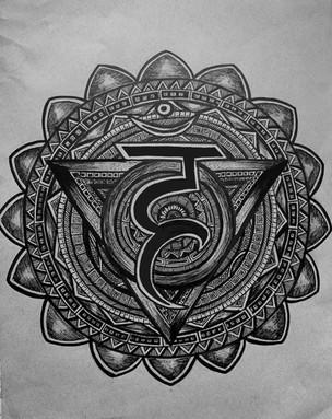 Throat Chakra Zentangle