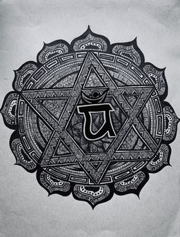 Heart Chakra Zentangle