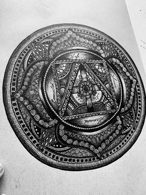 Root Chakra Zentangle