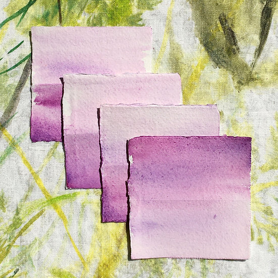 Watercolour wash place cards
