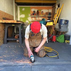 Artist Zedekiah Schild working in San Francisco, Ca