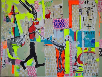 Schild,Beep Beep,36x48,acrylic on