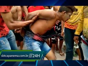 Ladrão de moto é preso após levar surra de população em Augusto Corrêa