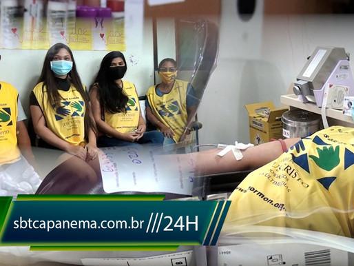 Ação solidária para doação de sangue no HEMOPA Capanema