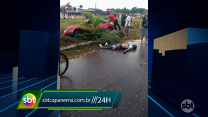 Motorista perde controle do veículo e cai e em uma vala no bairro Nazaré