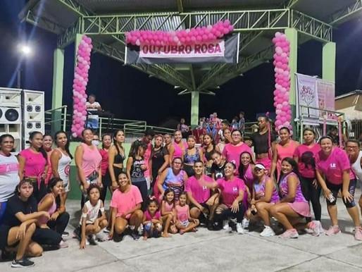 Campanha de conscientização do Outubro Rosa na vila de Tauarizinho