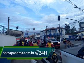 Semáforos quebrados causam acidentes no centro de Capanema