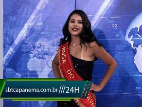 Musa Verão Primavera na tela do SBT Capanema