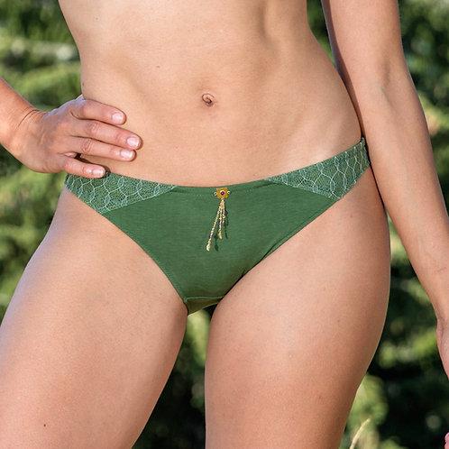 Pantie Lotus Green & Jewelry Pendant