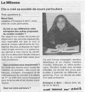 Ouest France 15/10/2013