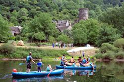 Canoeing near Montarnal
