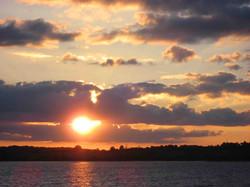 Lac Pareloup sunset