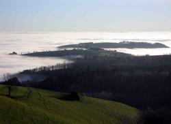 Early morning fog near Junhac
