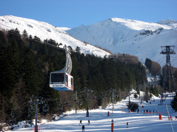 Skiing in Super Lioran