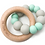 Thumbnail: Organic wood and silicone teether