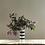 Thumbnail: Black and White Stripe Glass Vase