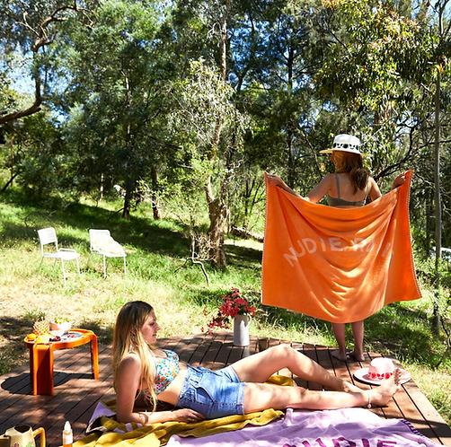Sage & Clare Nudie Rudie  Towel - Melon