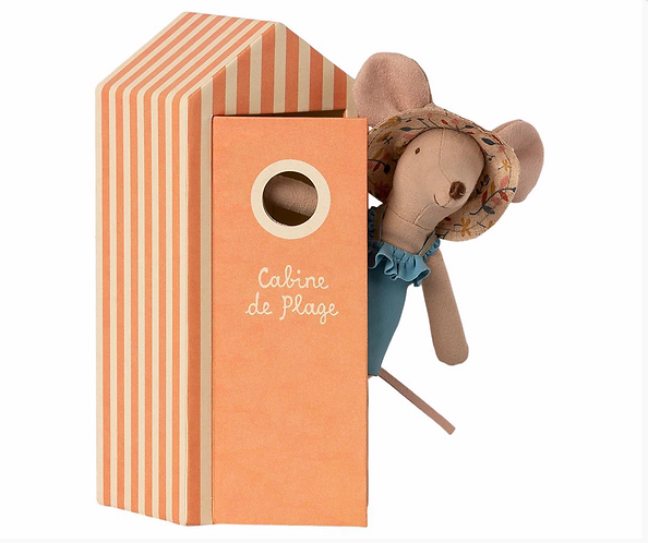 Maileg Beach Mum Mouse with Cabin