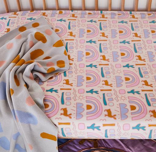 Sage & Clare Mundo knit baby blanket