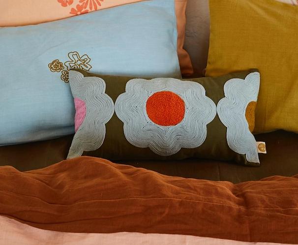 Sage & Clare Myrtle soutache cushion