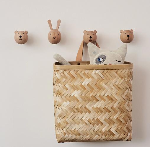 Oyoy Wooden Mini Hook - Bear