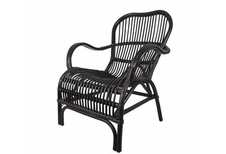 Rattan Veranda Chair - Black