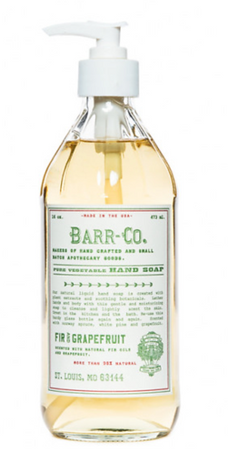 Barr Co fir and grapefruit hand soap