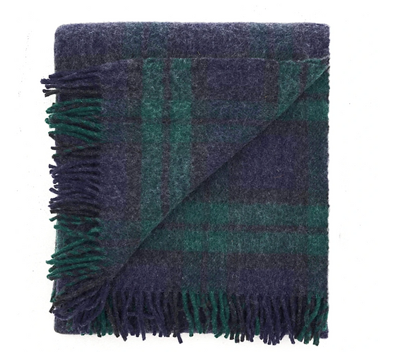 Recycled Wool Travel-Picnic Rug Black Watch