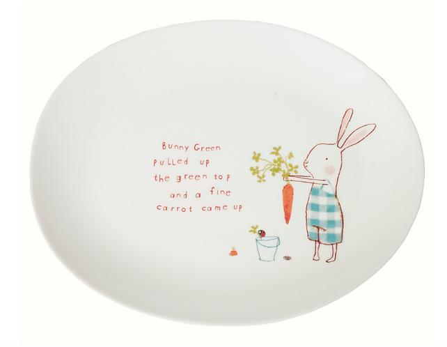Maileg Bunny Green melamine plate D