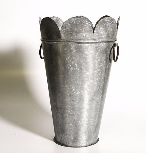 Scolloped Iron Flower Pots