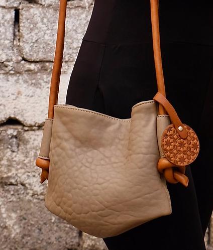 Moroccan leather cross body bag