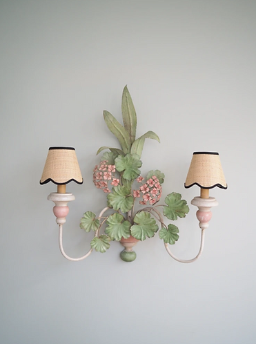Scalloped Raffia Lampshade - X Small