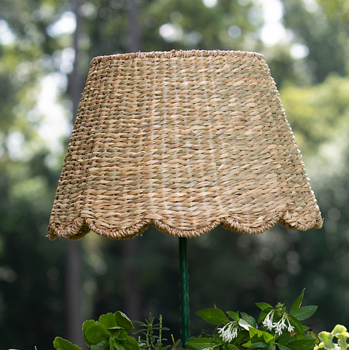 Large Scalloped Seagrass Lampshade