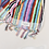Thumbnail: Miss April Turkish Bath Towel - Vivid Lines
