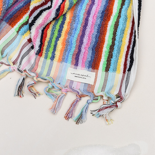 Miss April Turkish Hand Towel - Vivid Lines