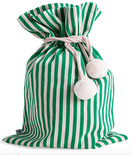 Santa Sack - Green Stripe