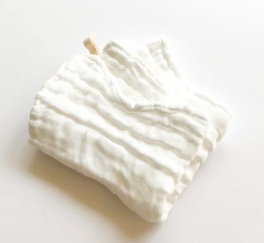 Organic cotton muslin washcloths 2pk