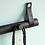 Thumbnail: Black oak and leather hook rack 4