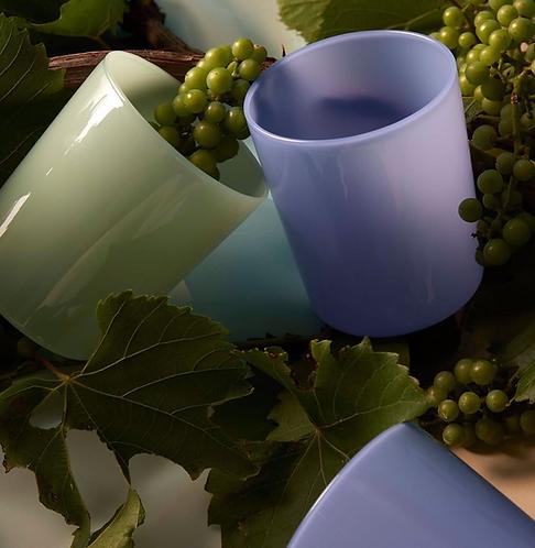 Opaque Glass Carafe - Bleuet