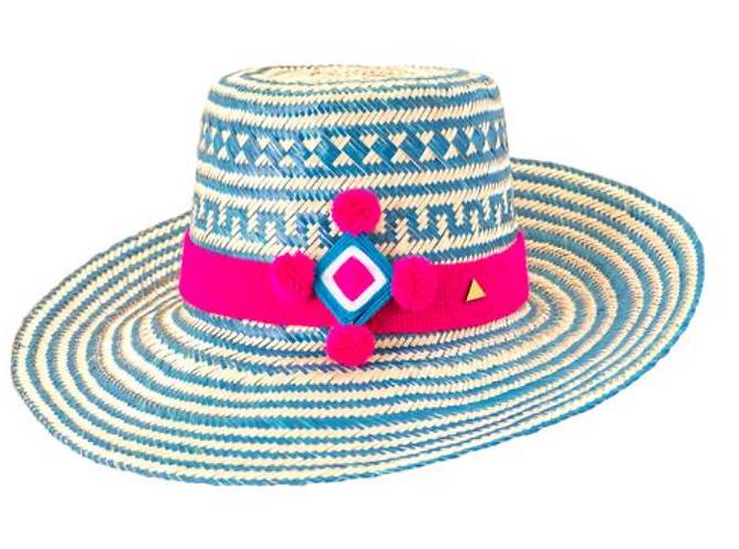 St Barts pom pom hat