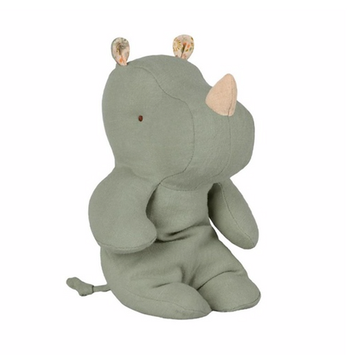 Maileg Small Rhino - Dusty Green
