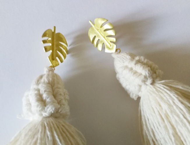 Golden Palms Earrings
