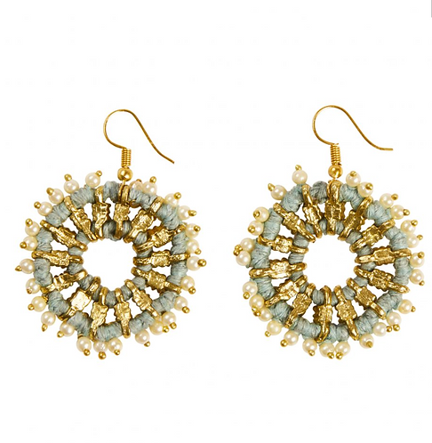 Lantana Earring - Dusty Blue