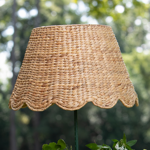Large Scalloped Water Hyacinth Lampshade