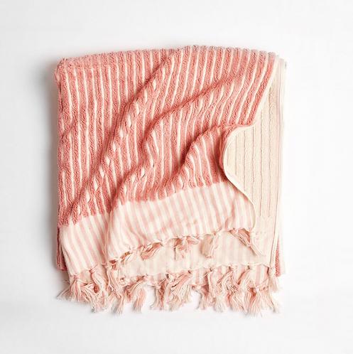 Luxe Turkish bathmat dusty pink