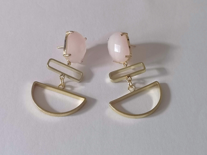 Nude Pink Love Her Madly Earrings